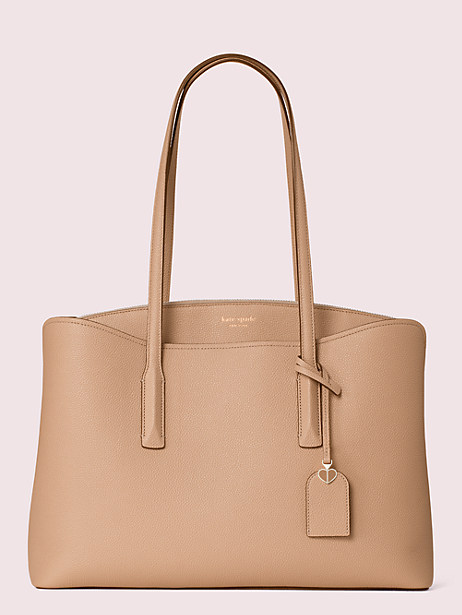 margaux large work tote, light fawn, large by kate spade new york
