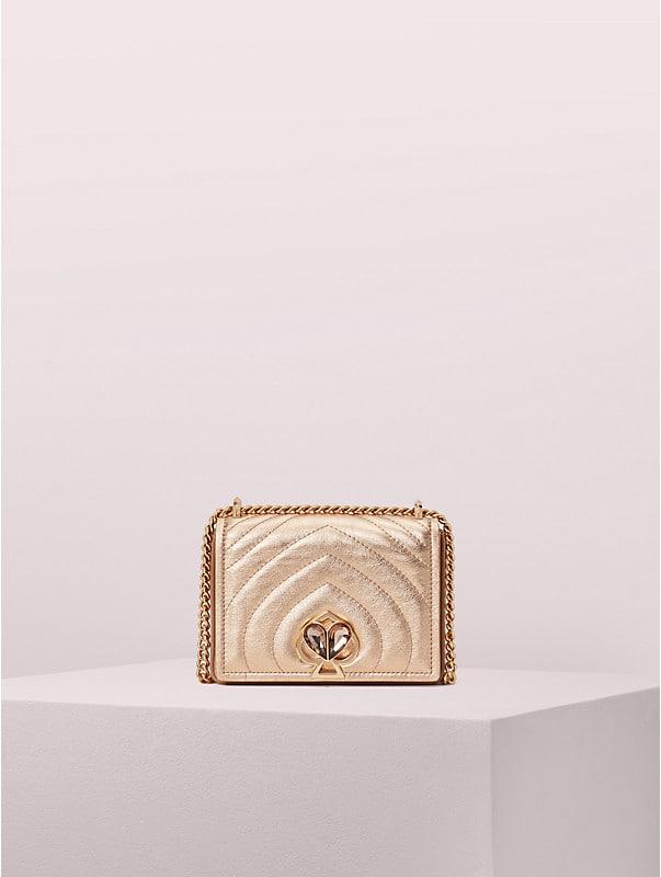 amelia jeweled twistlock small convertible chain shoulder bag, , rr_large