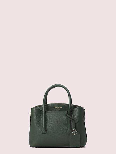 margaux mini satchel, deep evergreen, large by kate spade new york