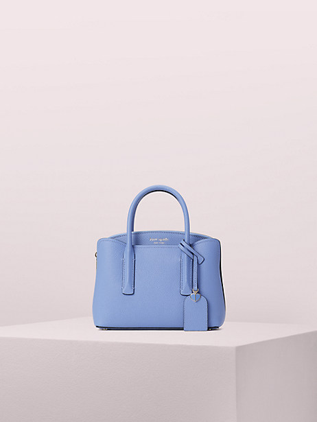 margaux mini satchel, forget me not, large by kate spade new york