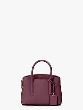margaux mini satchel, deep cherry, medium
