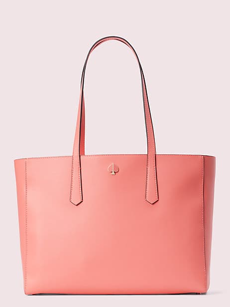 molly large work tote, lychee, large by kate spade new york