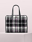 morley plaid large tote, , s7productThumbnail