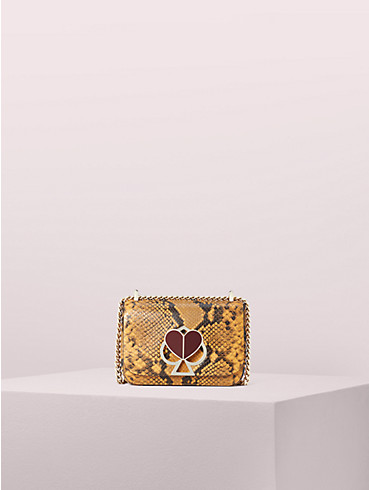 nicola snake embossed twistlock small convertible chain shoulder bag, , rr_productgrid