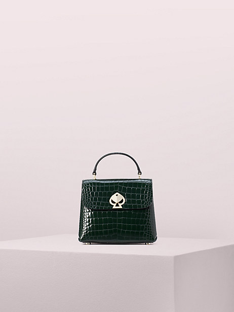 romy croc-embossed mini flap top handle bag by kate spade new york