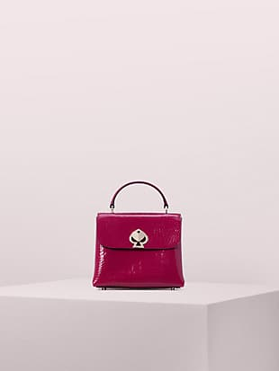 romy croc-embossed mini flap top handle bag by kate spade new york non-hover view