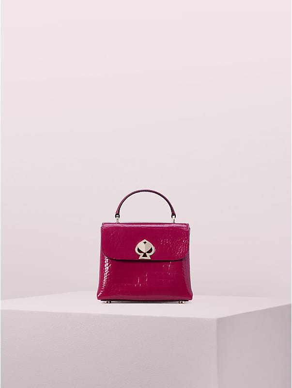 romy croc-embossed mini top-handle satchel, , rr_large