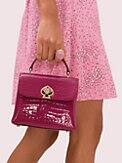 romy croc-embossed mini top-handle satchel, , s7productThumbnail