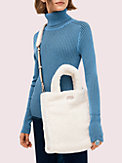 sam fluffy medium north south crossbody tote, , s7productThumbnail