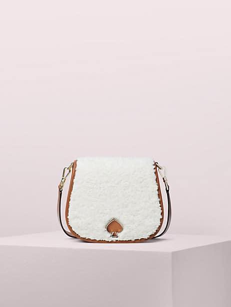 suzy fluffy large saddle bag by kate spade new york