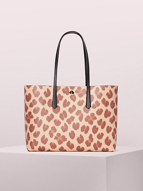 molly leopard large tote by kate spade new york
