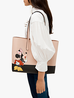 kate spade new york x minnie mouse large tote by kate spade new york hover view