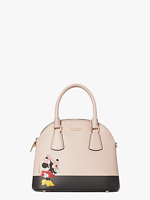kate spade new york x minnie mouse medium dome satchel by kate spade new york non-hover view