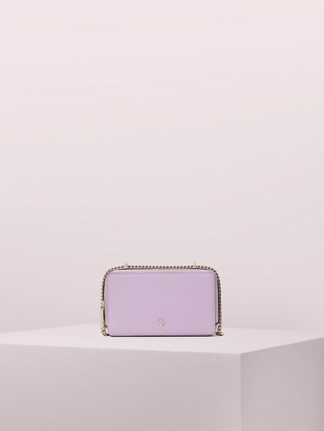 izzy small convertible crossbody, orchid, large by kate spade new york