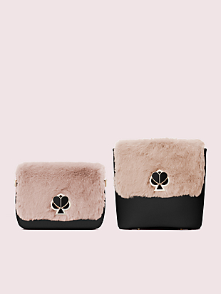 make it mine faux fur flap by kate spade new york hover view