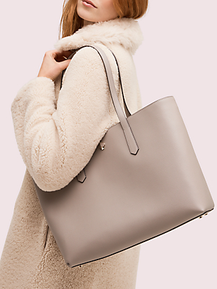 molly large zip-top work tote by kate spade new york hover view