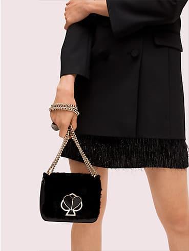 nicola faux fur twistlock small convertible chain shoulder bag, , rr_productgrid