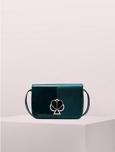 nicola metallic bicolor twistlock medium shoulder bag, , rr_productgrid