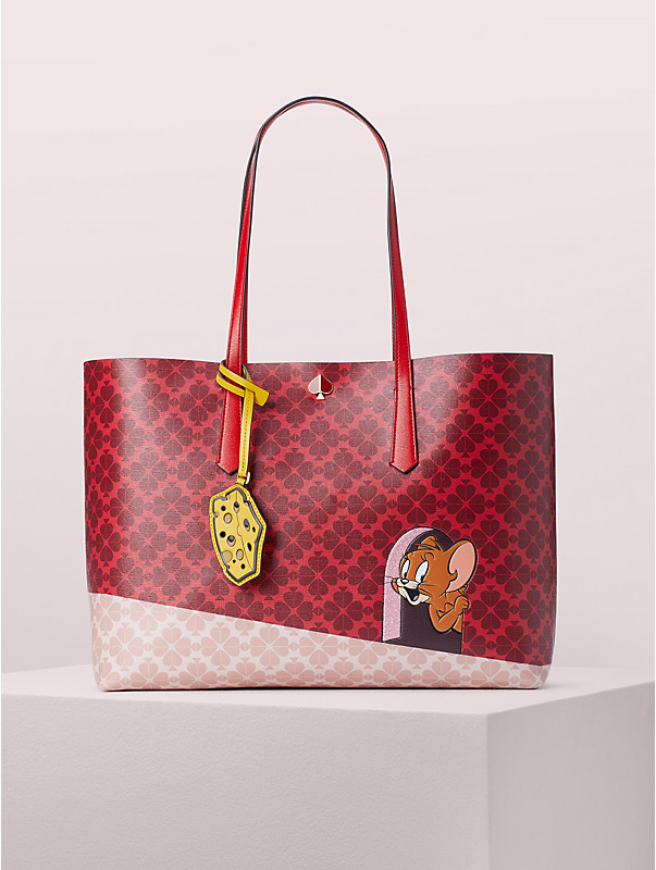 kate spade new york x tom & jerry large tote, , rr_large