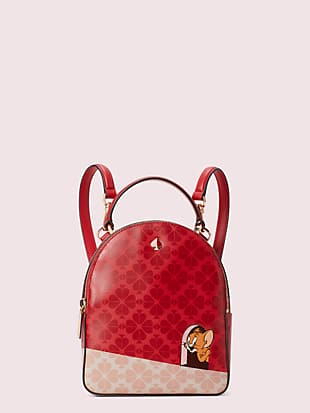 kate spade new york x tom & jerry mini convertible backpack by kate spade new york non-hover view