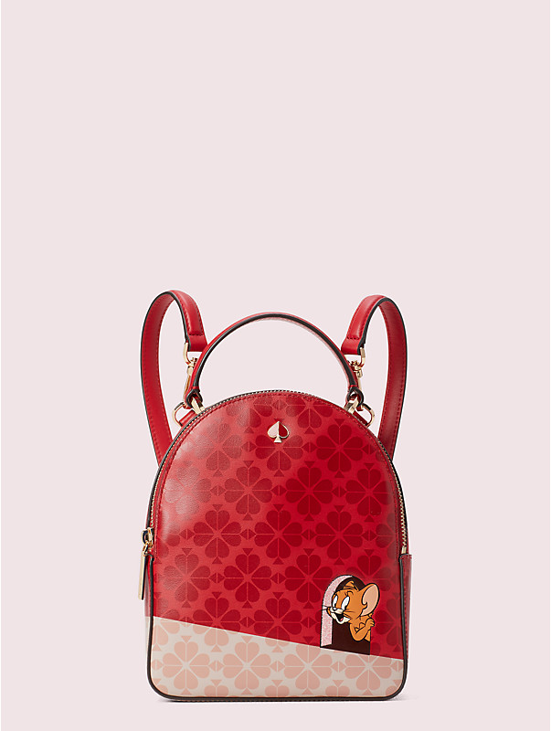 kate spade new york x tom & jerry mini convertible backpack, , rr_large