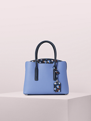 margaux party floral medium satchel by kate spade new york non-hover view