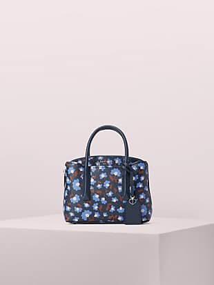 케이트 스페이드 마고 사첼백 미니 Kate Spade margaux party floral mini satchel,blazer blue multi