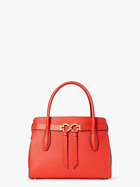 toujours medium satchel, lava red, large by kate spade new york