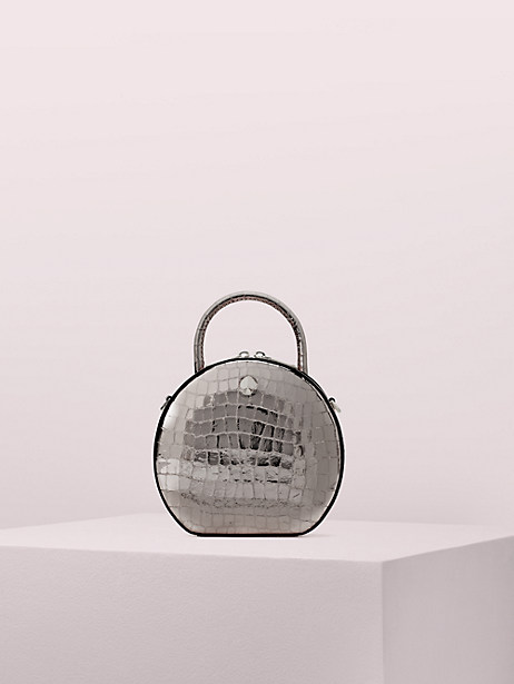 andi metallic croc-embossed canteen bag by kate spade new york
