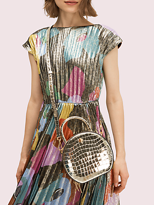 andi metallic croc-embossed canteen bag by kate spade new york hover view