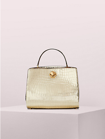 romy metallic croc-embossed medium satchel, , rr_productgrid