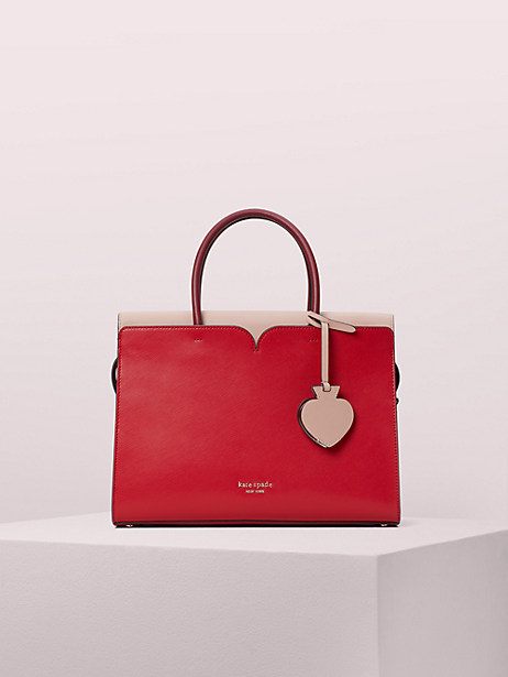 spencer large satchel, hot chili, large by kate spade new york