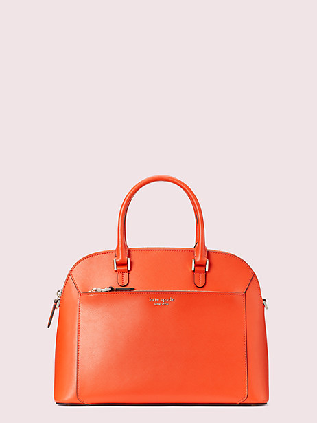 louise medium dome satchel, tamarillo, large by kate spade new york