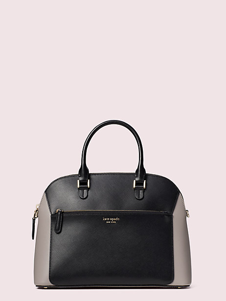 louise medium dome satchel, true taupe multi, large by kate spade new york