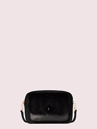make it mine customizable camera bag faux fur pouch by kate spade new york non-hover view