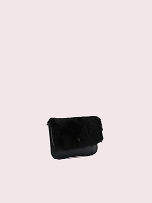 make it mine customizable camera bag faux fur pouch by kate spade new york hover view