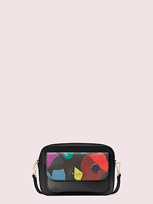 make it mine customizable camera bag floral collage pouch by kate spade new york non-hover view