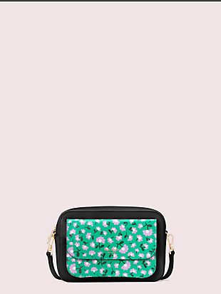 make it mine customizable camera bag party floral pouch by kate spade new york non-hover view