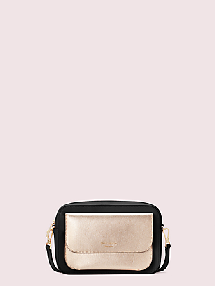 make it mine customizable camera bag metallic pouch by kate spade new york non-hover view