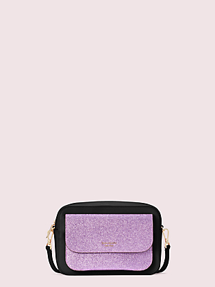 make it mine customizable camera bag glitter pouch by kate spade new york non-hover view