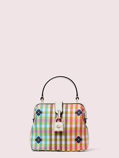remedy bella plaid small top-handle bag by kate spade new york