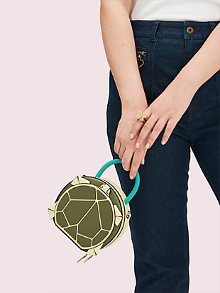 andi turtle mini chain canteen bag by kate spade new york hover view