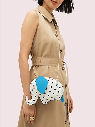 tiny cabana dot elephant crossbody, , rr_productgrid