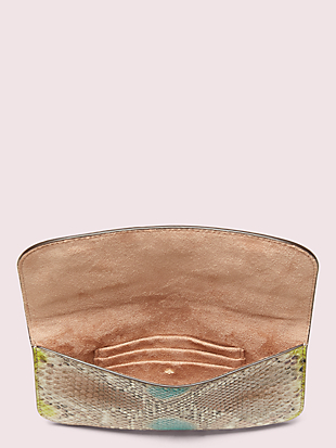 python-embossed pouch by kate spade new york hover view
