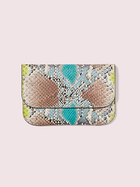 python-embossed pouch by kate spade new york