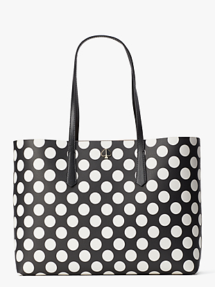 케이트 스페이드 몰리백 라지 Kate Spade molly bikini dot large tote,black multi