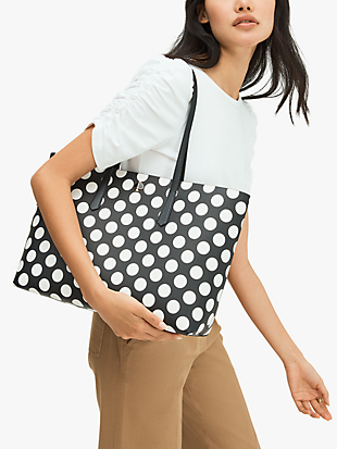 molly bikini dot large tote by kate spade new york hover view