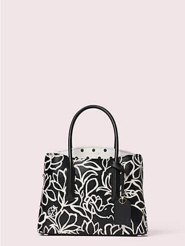 margaux embossed scribble flora medium satchel, , rr_productgrid