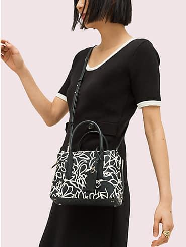 margaux embossed scribble flora mini satchel, , rr_productgrid
