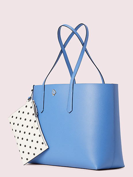 molly cabana dot pop large tote, deep cornflower, large by kate spade new york